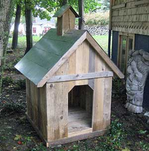 Home made dog kennel looking rather smart!