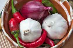 Onions and garlic are also toxic foods for dogs